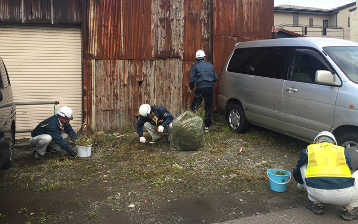 一斉清掃|カネタ建設|上越・糸魚川・妙高の家づくり|木の家の注文住宅工務店|キノイエ|